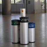 Recicl baldes do lixo Foto de Stock Royalty Free