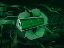 Recicl a bateria ilustração do vetor