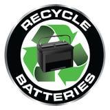 Recicl baterias Fotos de Stock Royalty Free