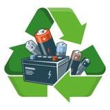 Recicl baterias ilustração royalty free