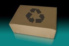 Recicl a caixa no assoalho refletido Fotografia de Stock Royalty Free