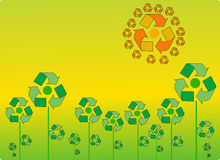 Recicl canta Fotografia de Stock
