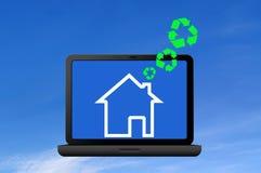 Recicl a casa do símbolo e do ícone Imagens de Stock