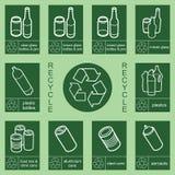 Recicl a coleção 1 do sinal ilustração royalty free
