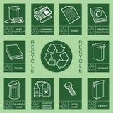 Recicl a coleção 3 do sinal ilustração royalty free