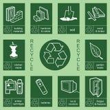 Recicl a coleção 4 do sinal Imagem de Stock Royalty Free