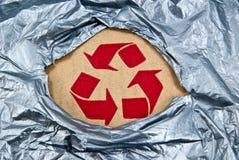 Recicl com plástico Foto de Stock Royalty Free