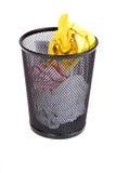 Recicl completamente o escaninho Foto de Stock Royalty Free