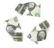 Recicl dólares Fotografia de Stock