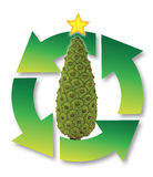 Recicl da ?rvore de Natal Imagens de Stock