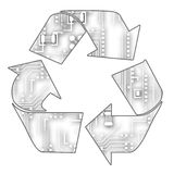 Recicl da tecnologia Imagem de Stock Royalty Free