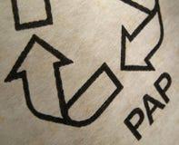 Recicl de papel Imagens de Stock Royalty Free