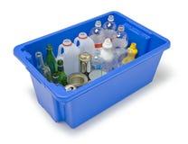 Recicl de vidro do metal plástico fotos de stock