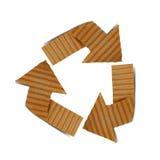 Recicl do cartão Foto de Stock