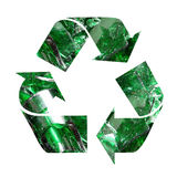 Recicl do vidro da cor Imagem de Stock