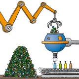 Recicl do vidro (vetor) Foto de Stock Royalty Free
