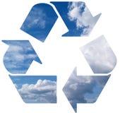 Recicl em nuvens ilustração do vetor