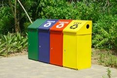Recicl escaninhos Imagens de Stock