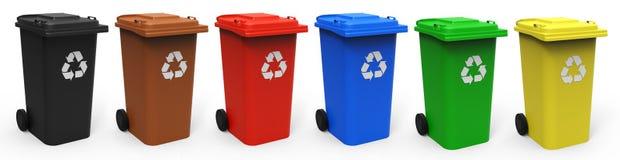 Recicl escaninhos Imagem de Stock