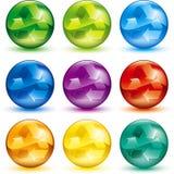 Recicl a esfera Fotografia de Stock