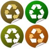 Recicl etiquetas Imagem de Stock