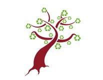Recicl a ilustração da árvore Imagens de Stock