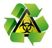 Recicl a ilustração do sinal do biohazard Fotos de Stock Royalty Free