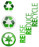 Recicl a ilustração do vetor do símbolo Foto de Stock