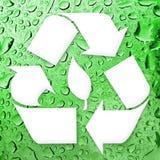 Recicl indo do verde ilustração stock