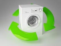 Recicl a máquina de lavar 3d Imagens de Stock Royalty Free