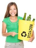 Recicl a menina Fotos de Stock Royalty Free