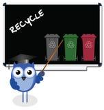Recicl a mensagem Fotografia de Stock