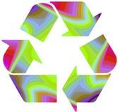 Recicl no arco-íris funky Imagem de Stock Royalty Free