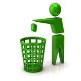 Recicl o ícone do lixo Fotos de Stock Royalty Free