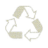 Recicl o branco Foto de Stock Royalty Free