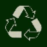 Recicl o branco com verde Imagens de Stock Royalty Free