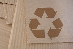 Recicl o cartão Fotografia de Stock