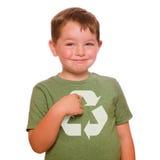 Recicl o conceito com criança Imagem de Stock Royalty Free