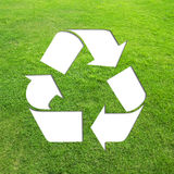 Recicl o conceito do logotipo Fotos de Stock