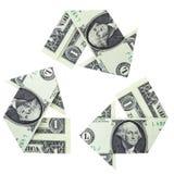 Recicl o dinheiro Imagem de Stock