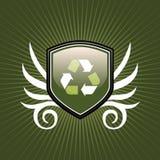 Recicl o emblema do protetor do símbolo ilustração do vetor
