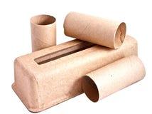Recicl o empacotamento de papel Imagem de Stock