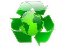 Recicl o globo Foto de Stock