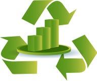Recicl o gráfico Fotografia de Stock Royalty Free