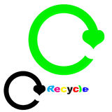 Recicl o logotipo Imagens de Stock Royalty Free