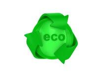 Recicl o logotipo Foto de Stock Royalty Free