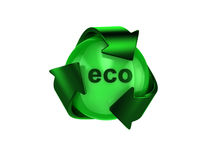 Recicl o logotipo Fotografia de Stock Royalty Free