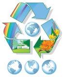 Recicl o mundo Fotografia de Stock Royalty Free