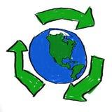 Recicl o mundo Imagens de Stock