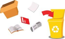 Recicl o papel ilustração stock